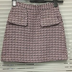 TopShop Dixie Pink and Black Mini Skirt